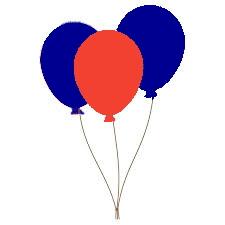 balonnen in MC-kleuren